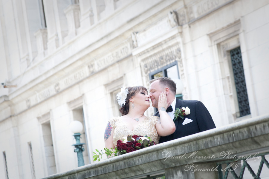 Detroit Public Library MI wedding photograph