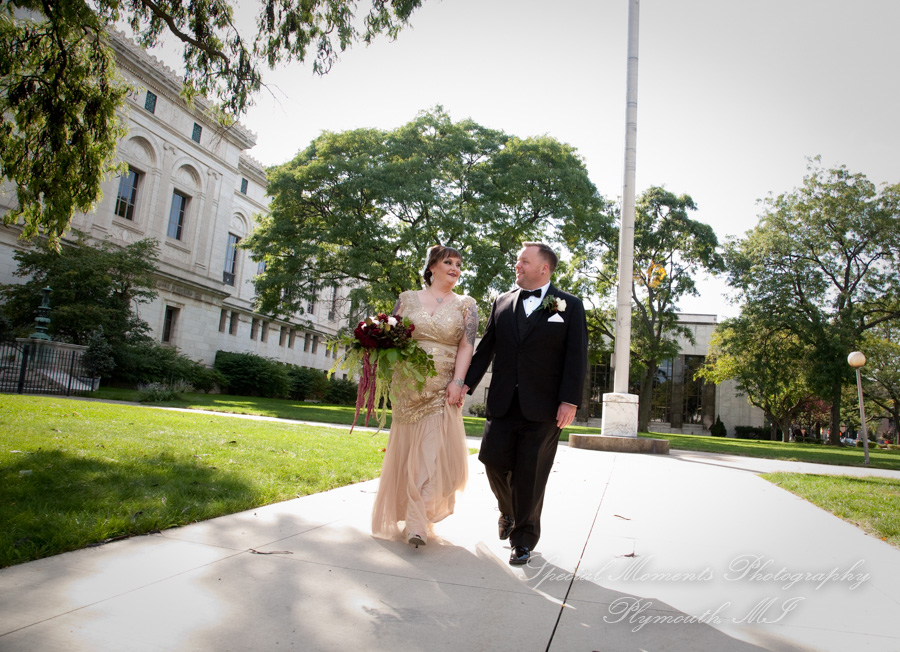 Detroit Public Library MI wedding photograph