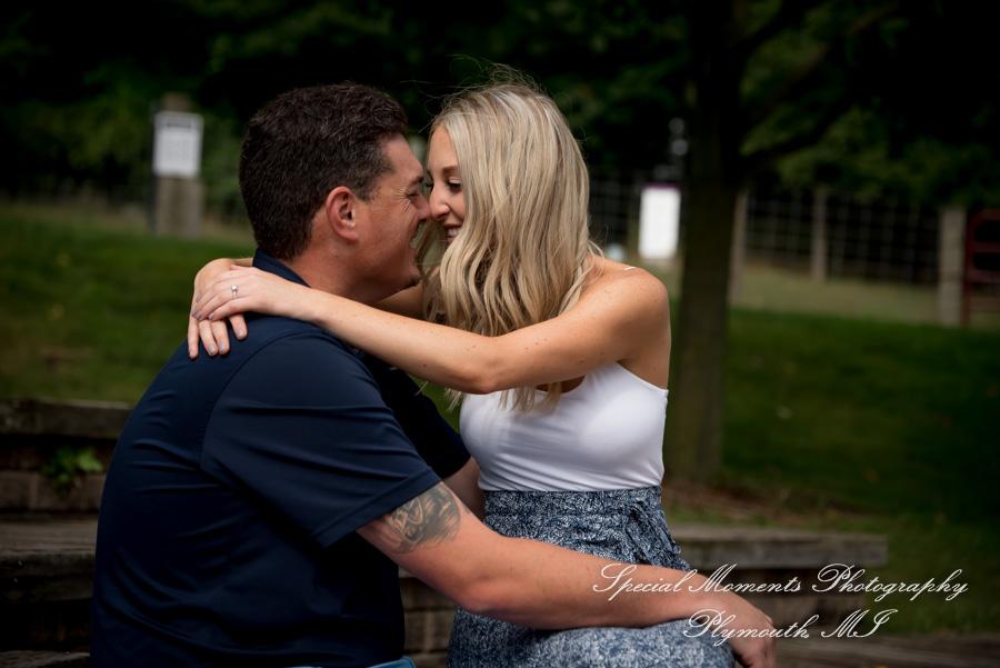 Kensington Milford MI engagement photograph