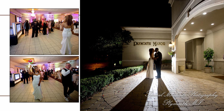 Plymouth Manor Plymouth MI wedding album photograph