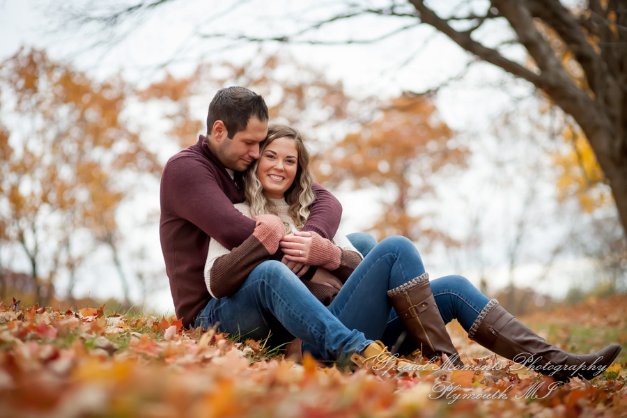 Phoenix Lake Northville MI engagement photograph