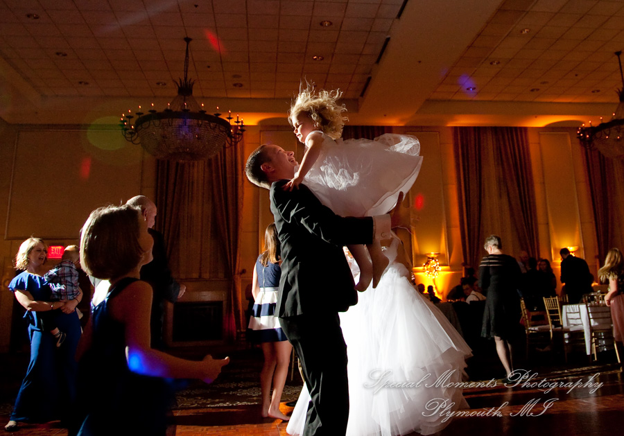 Inn At St. John Grande Ballroom Plymouth MI wedding photograph