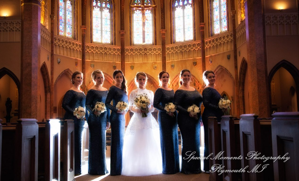 St. Ambrose Catholic Grosse Pointe Park MI wedding photograph